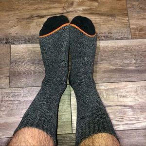 Warm Winter Charcoal Color Socks